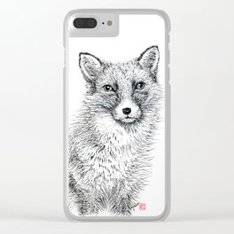 Fox staring Clear iPhone Case