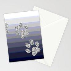 Paw Prints Stationery Cards