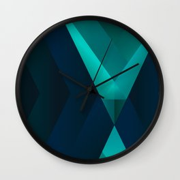 Geometric abstract design. Wall Clock
