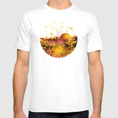 Flowers at Sunset Mens Fitted Tee MEDIUM White