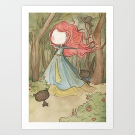 Merida in the forest Art Print