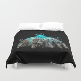 Evening Gown Fashion Illustration #2 Duvet Cover