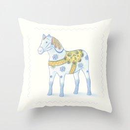 Memories of a wooden horse Throw Pillow