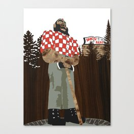 Paul Bunyan Statue (and Dancing Bare stripclub), Portland Oregon Canvas Print