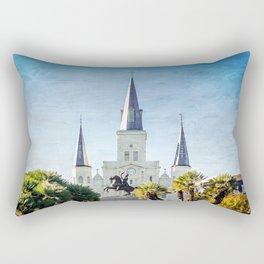 Jackson Square New Orleans Rectangular Pillow
