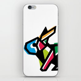 Rainbow Anigami Bunny iPhone Skin