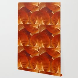 Leaves in Terracotta Color #decor #society6 #buyart Wallpaper