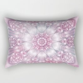 Dreams Mandala in Pink, Grey, Purple and White Rectangular Pillow