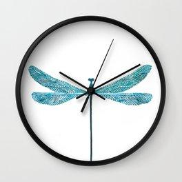 Dragonfly, watercolor Wall Clock