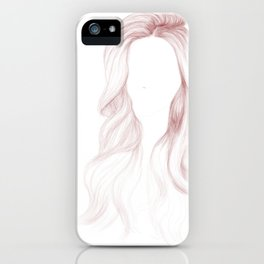 Red Wavy Hair iPhone Case