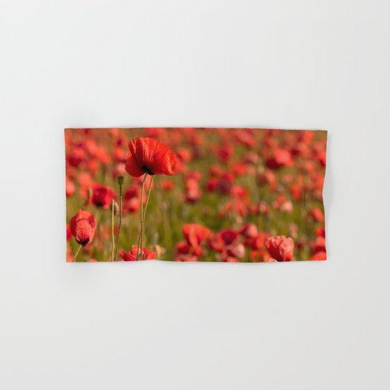 Poppy poppies summer field Hand & Bath Towel