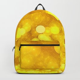 Yellow Glitter Wave Backpack