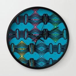 Lines Circles Progression 4 Color Pattern Wall Clock
