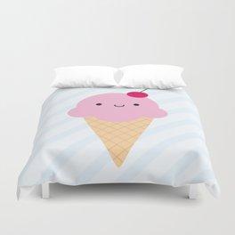 Kawaii Ice Cream Cone Duvet Cover