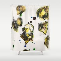 bleach Shower Curtains featuring Leaves by KLoJones