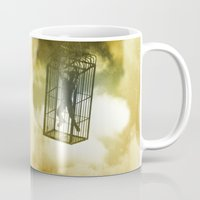 cage Mugs featuring Cage by Azure Cricket