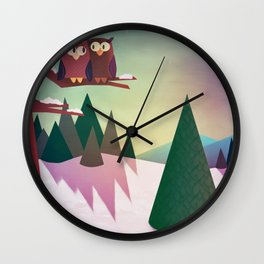 Twilight In The Woods Wall Clock