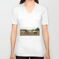 cows V-neck T-shirts featuring Cows by Falko Follert Art-FF77