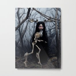 Wendigo in the Woods Metal Print