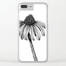 Stand Alone Coneflower Clear iPhone Case