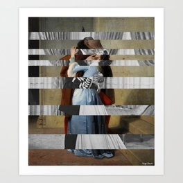 Hayez's The Kiss & Clark Gable and Vivien Leigh Art Print
