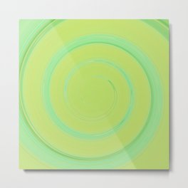 Re-Created Spin Painting (Yellowish Green) by Robert S. Lee Metal Print