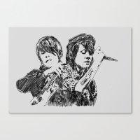 tegan and sara Canvas Prints featuring Tegan & Sara by sostular