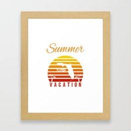 Summer Vacation Florida Miami Beach Holiday Retro Vintage Framed Art Print