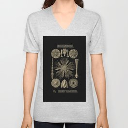 """""""Echinidea"""" from """"Art Forms of Nature"""" by Ernst Haeckel Unisex V-Neck"""