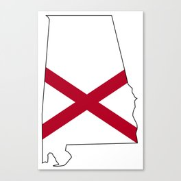 Alabama Love Canvas Print