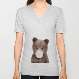 Bubble Gum Bear Cub Unisex V-Neck