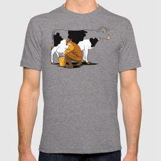 Milking Out Tri-Grey 2X-LARGE Mens Fitted Tee