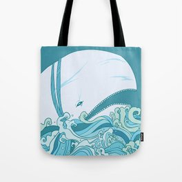 Moby Dick Illustration Tote Bag