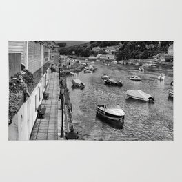 West Looe River in Black and White Rug