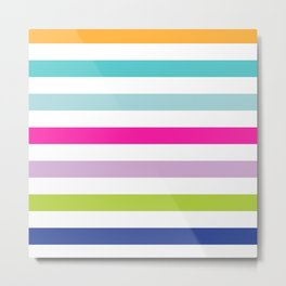 Big Bright Stripes Metal Print