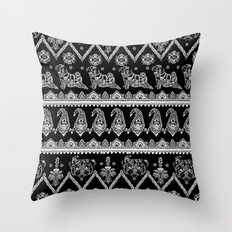 Boho of Pug Throw Pillow