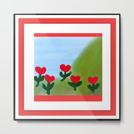 Hearts from a Rose Metal Print