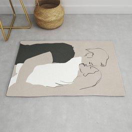 Minimalist  Illustration Kiss Rug
