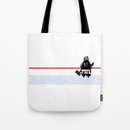 The Goalie - after a hockey game Tote Bag