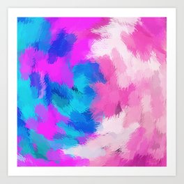 blue and pink painting texture abstract background Art Print