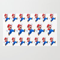 mario Area & Throw Rugs featuring Mario by Maxvision