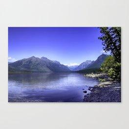 McDonald Lake In Glacier National Park Canvas Print