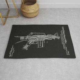 AR-15 Semi-Automatic Rifle Patent - Black Rug