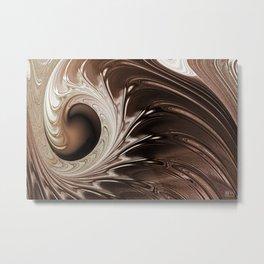 Chocolate Mocha Swirl Metal Print