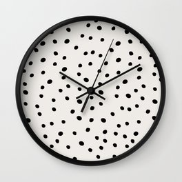 Preppy Spots Digita Drawing Wall Clock