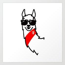 Llama Oficial Perú Art Print