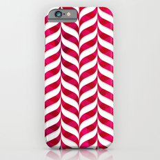 Red Leaf Herringbone iPhone 6s Slim Case