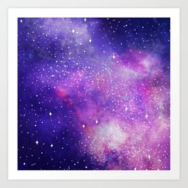 Space Nebula Galaxy Stars Art Print