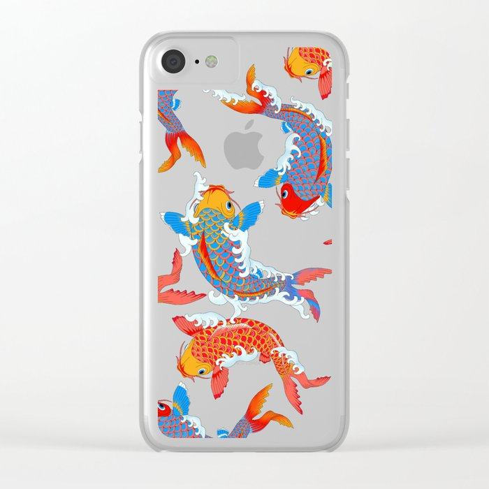 Koi fish / japanese tattoo style pattern Clear iPhone Case