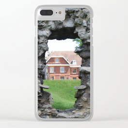 Within the Walls of The Tower of London Clear iPhone Case